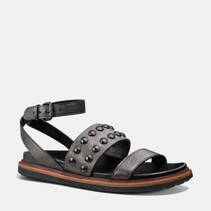 COACH Metallic Dannie Sandals